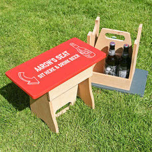 Personalised Wooden Beer Stool - garden furniture