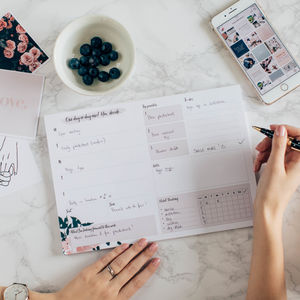 Weekly Planner A4/ Weekly Notepad/ Daily Habit Tracking - find your routine