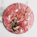 Resin Art Circular Abstract 'Breaking Through'