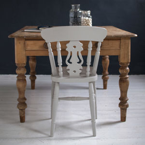 Set Of Four Traditional Fiddle Back Chairs