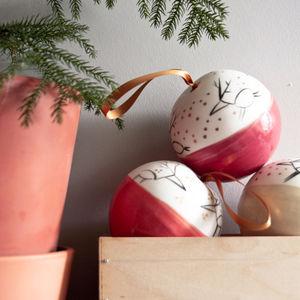 Porcelain Christmas Bauble