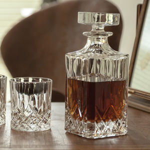 Personalised Cut Glass Decanter And Glasses - drink & barware