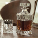 Personalised Cut Glass Decanter And Optional Glasses