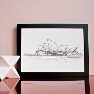 Sydney Opera House Print - drawings & illustrations