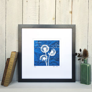 Dandelions Limited Edition Silhouette Print