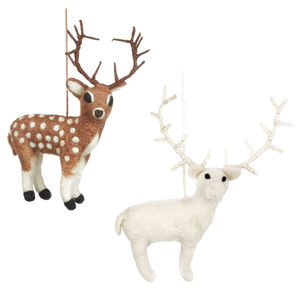 Handmade Felt Stag - home accessories