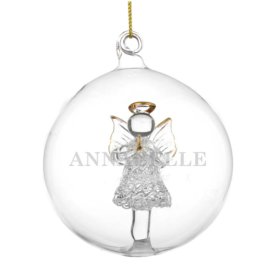Personalised Glass Christmas Bauble By Letteroom