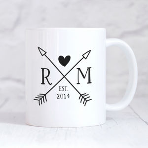 Personalised Couples Initials And Year Monogram Mug