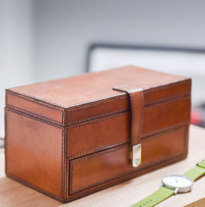 Personalised Leather Watch Box And Jewellery Storage - watch storage