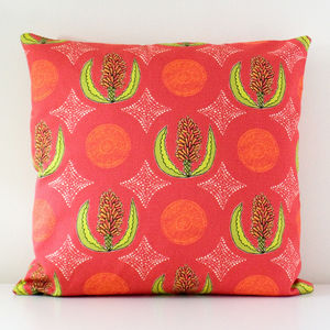 Cape Aloe Flower Handmade Cushion Cover