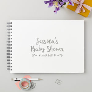 Personalised Baby Shower Guest Or Memory Book - baby & child