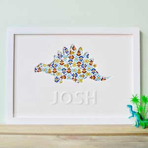 Personalised Child's Dinosaur Picture - pictures & prints for children