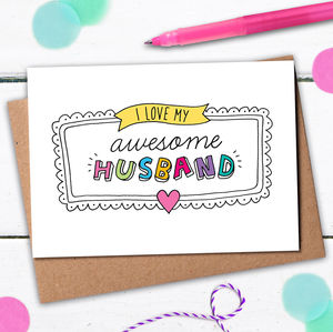 Awesome Husband Card