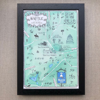 Map Of Battle Signed Print