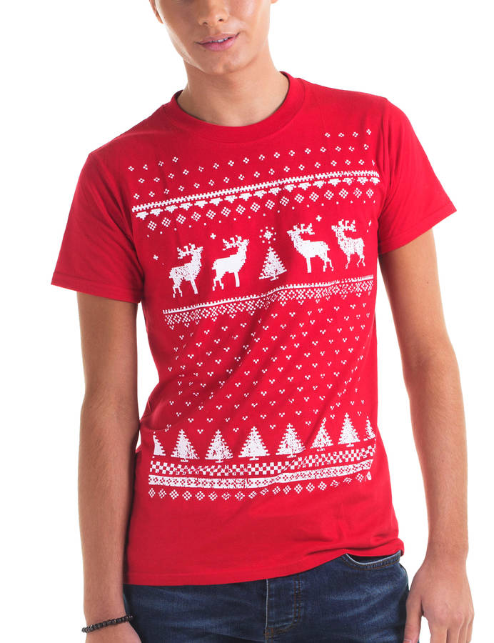 Mens Reindeer Christmas T Shirt By Jolly ...