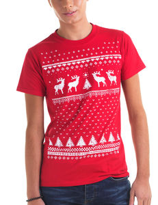 Mens Reindeer Christmas T Shirt - men's sale