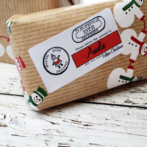 Personalised Christmas Present Labels - ribbon & wrap