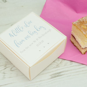 Personalised Classic Wedding Cake Box - cake toppers & decorations