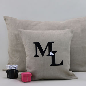 Ampersand Initial Cushion - living room
