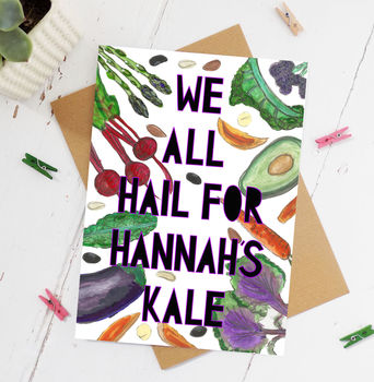 Personalised 'Kale Hail' Congratulations Card