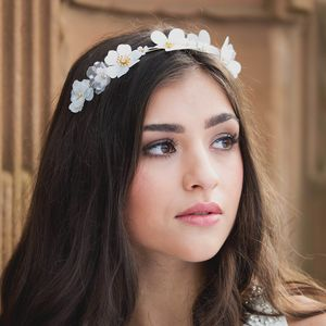 Daisy Spring Flower Bridal Headpiece - wedding fashion