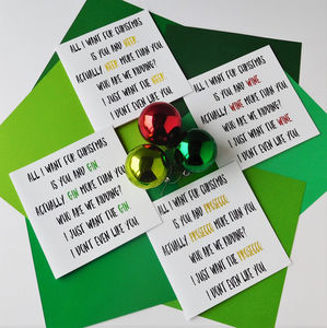 Pack Of Eight Boozy Christmas Cards - cards