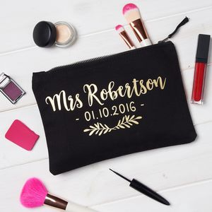 Personalised Mrs Make Up Bag - make-up & wash bags