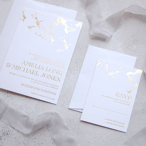 Marble Invitation - wedding stationery