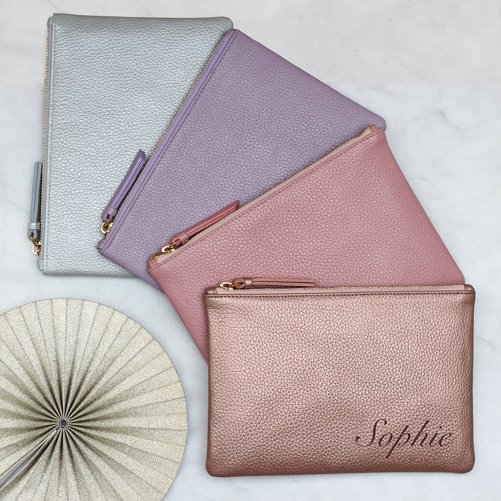 685e7f018562 personalised luxury pastel leather name clutch bag by hurleyburley ...