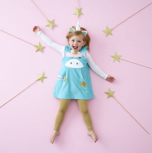 Girls Unicorn Costume Dress - unicorns