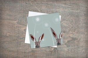 Two Little Hares Greetings Card - view all easter