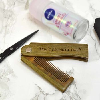 Personalised Folding Comb For Dad