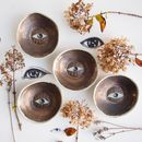 Handmade Gold Eye Ceramic Ring Jewellery Dish
