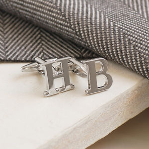 Initial Cufflinks - wedding jewellery