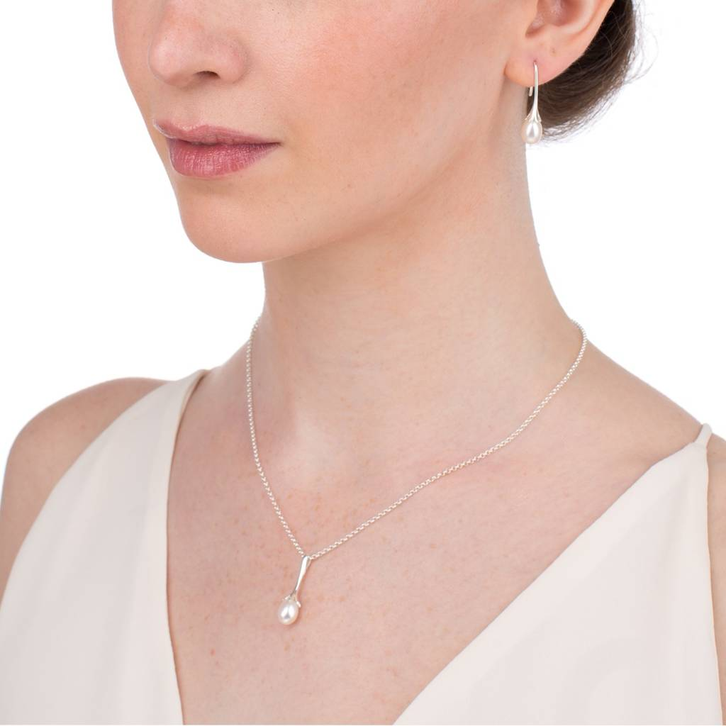 en dainty droplets pandora shimmering droplet new collection estore necklace dazzling