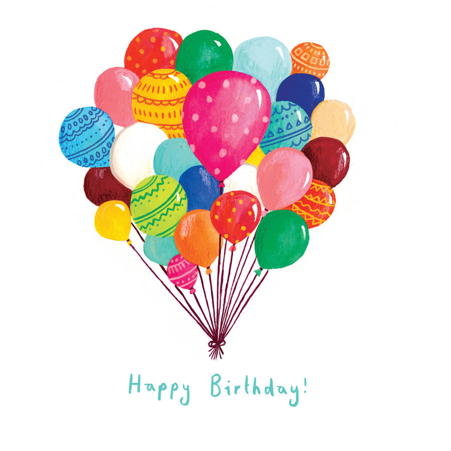 a balloon happy birthday card by emma randall