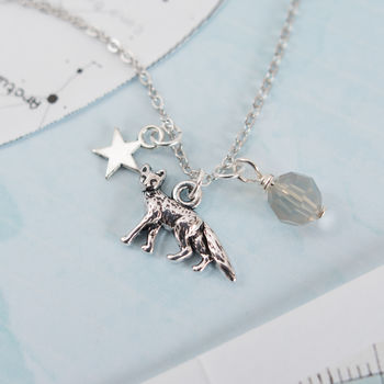 Silver Fox Charm Necklace