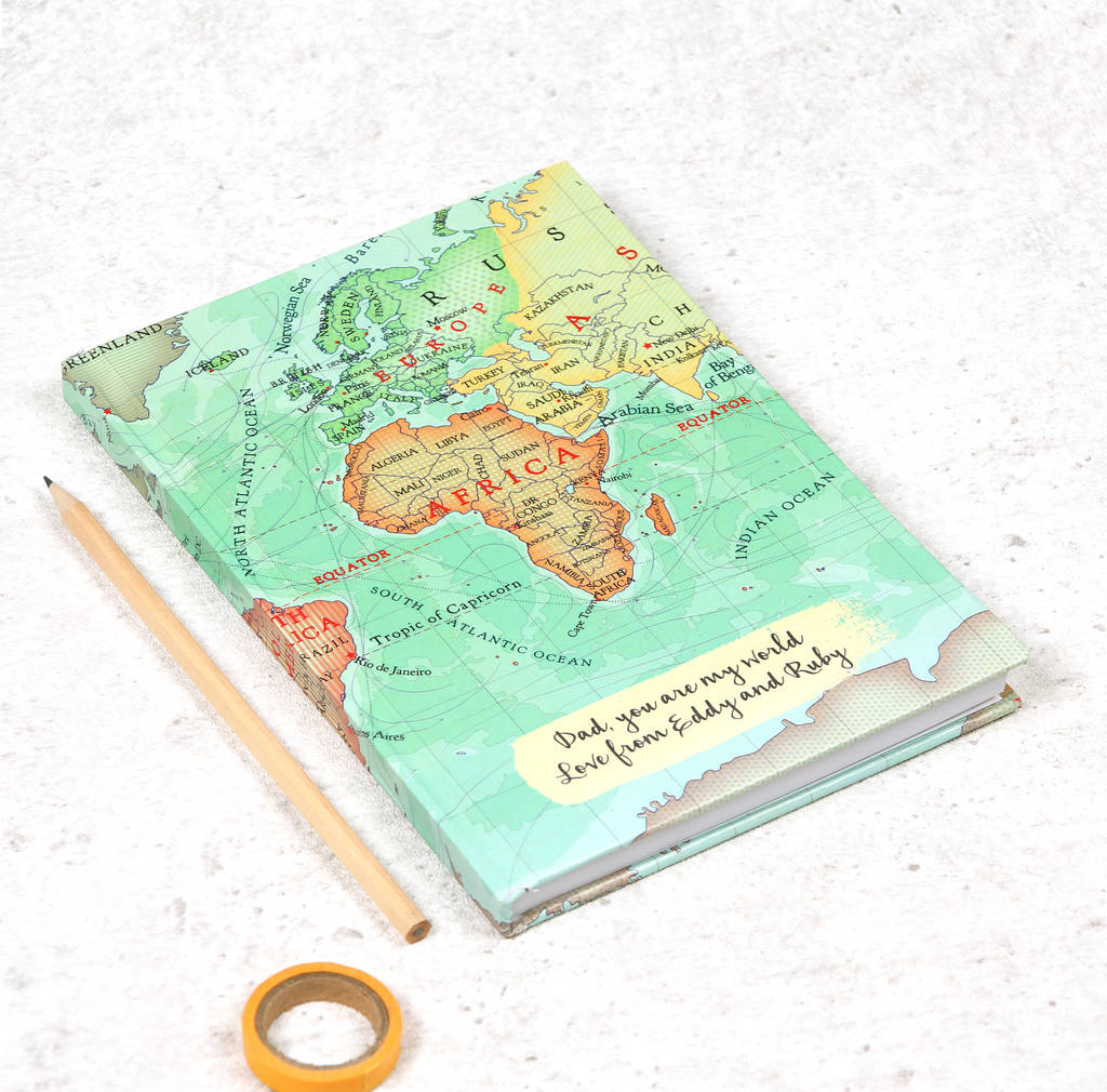 You are my world personalised map notebook by bombus you are my world personalised map notebook gumiabroncs Choice Image