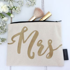 'Mrs' Wedding Make Up Bag - make-up & wash bags