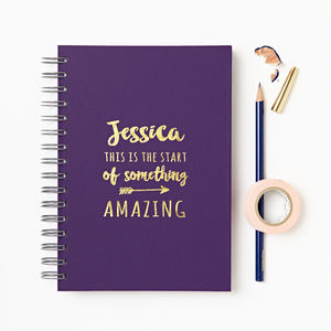 'Start Of Amazing' Secret Messages Notebook