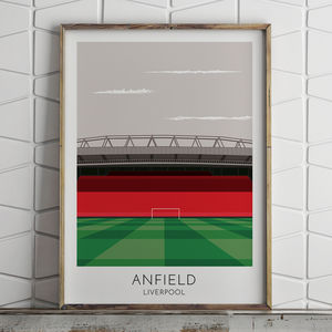 Personalised Contemporary Football Stadium Print - gifts for him