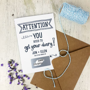 10 Attention Save The Date Cards - invitations