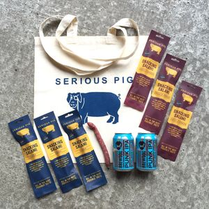 Taster Snacking Salami And Craft Beer Gift Set - food & drink