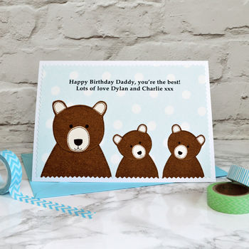 Personalised Daddy Bear Birthday Card By Jenny Arnott Cards and Gifts