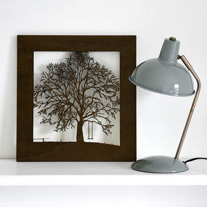 Woodcut Tree With Swing Wall Art - what's new