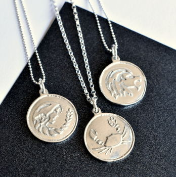 Virgo, Cancer and Leo Star Sign Necklaces