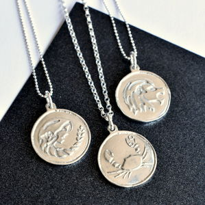 Silver Zodiac Star Sign Necklace
