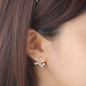 Starburst Two Way Earrings - party wear & accessories