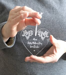 Personalised Mum Heart Decoration