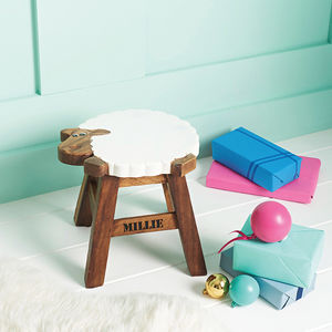 Personalised Wooden Sheep Stool - gifts for children